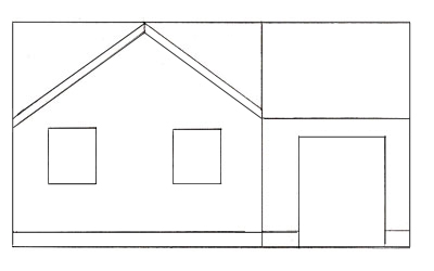 how to draw a house step 3 - House Drawing Easy