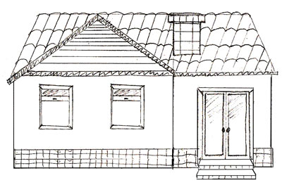 How To Draw A House Step By