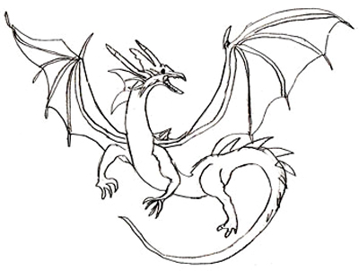 Dragons Drawings For Kids Dragon Drawings Final Step