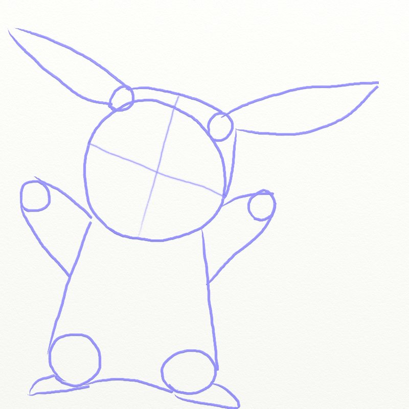 How To Draw Pikachu From Pokemon Draw Step By Step
