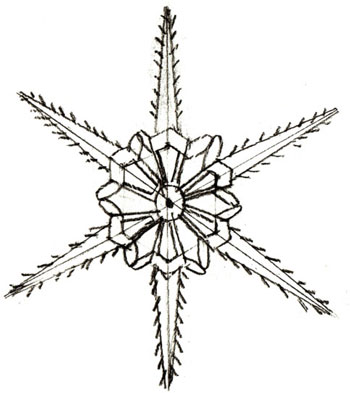 How to Draw a Snowflake, step 4