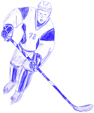How to Draw a Hockey Player  Draw Step by Step