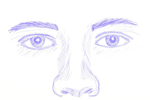 Drawing human eyes step 6