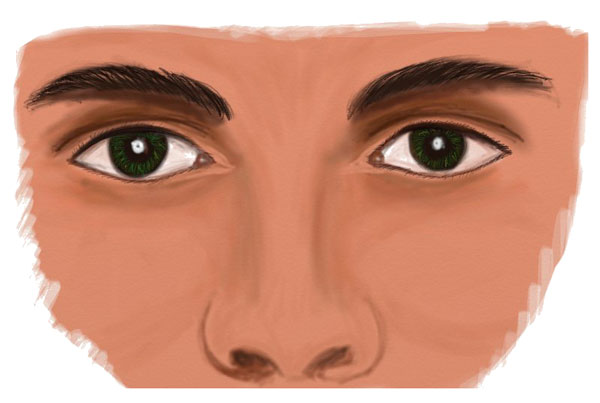Drawing Human Eyes, step 7