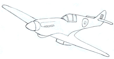 How to Draw a Fighter Plane, step 5