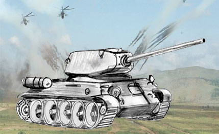 Drawing a military Tank