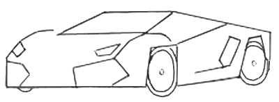 Sports Car Drawing step 3